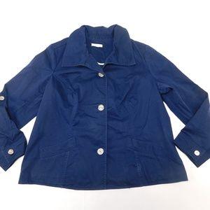 Charter Club 2X Navy Blue Blazer  Cotton Blend